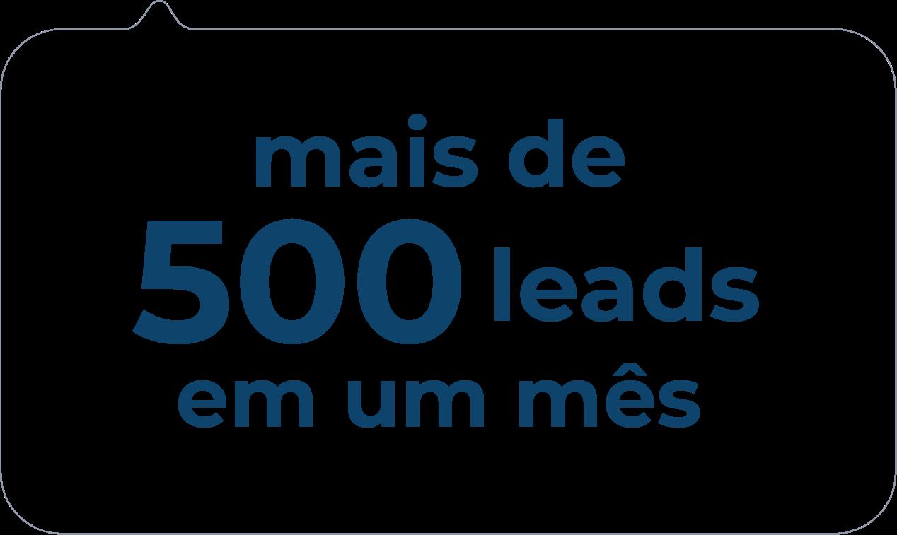 Mais de 500 Leads
